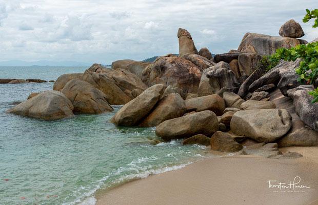 Die Felsen sind das Wahrzeichen am südlichem Lamai Beach, und gehören zu den meist fotografierten Touristen Attraktionen auf der Insel.