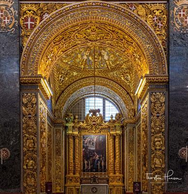 Das Gemälde schuf der maltesische Maler Stefano Erardi.