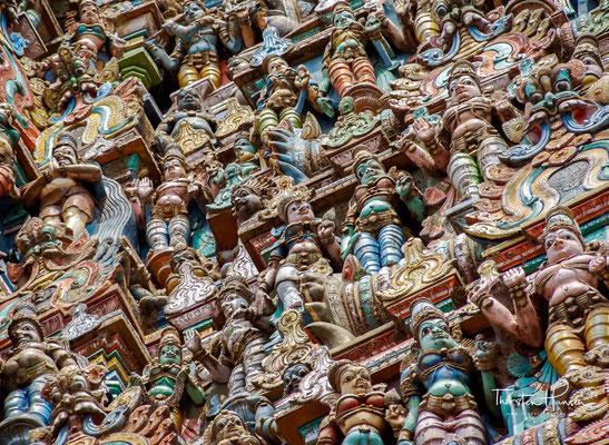 Der mit über sechs Hektar weitläufige Tempelkomplex umfasst neben den Hauptschreinen zahlreiche weitere Bauelemente, darunter mehrere große Säulenhallen und einen Tempelteich.