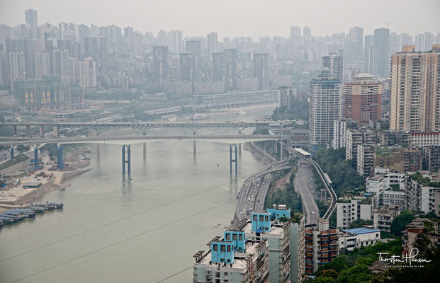 Chongqing die größte Stadt der Welt