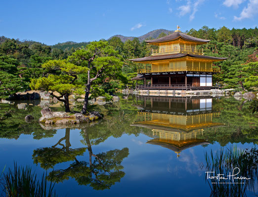 """Kinkaku-ji (jap. 金閣寺, dt. """"Goldener-Pavillon-Tempel""""), eigentlich Rokuon-ji"""