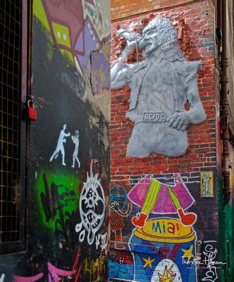 AC/DC in der Hosier and Rutledge Lane in Melbourne