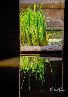 Aus diesem Grund sind einige Teile des Tempels mit Wasser gefüllt. Während der Regenzeit sind einige Teile des Tempels unzugänglich.