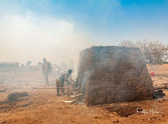 Ziegelproduktion in Malawi