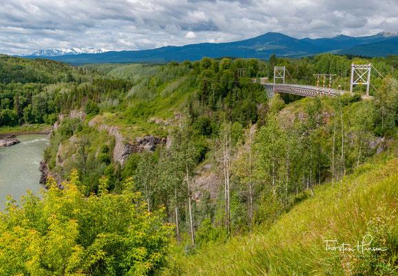 Die heutige Brücke wurde 1931 gebaut und später 1990 verstärkt.