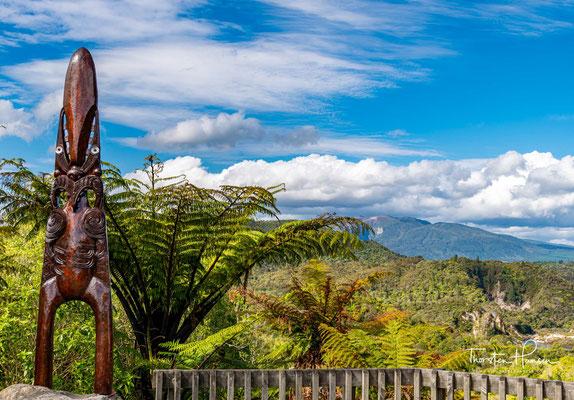 Blick auf das  Waimangu Volcanic Rift Valley und den Echo Krater