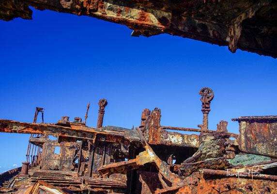Später diente sie der Royal Australian Air Force (RAAF) als Zielobjekt. Heute sind nur noch die oberen Decks des Schiffes sichtbar.