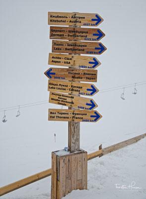 Skigebiet in Almaty im Transili-Alatau Gebirge