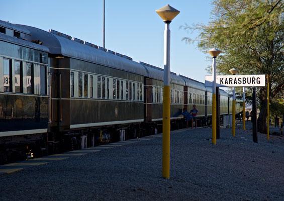 Mit dem African Explorer / Shongololo Train in Karasburg