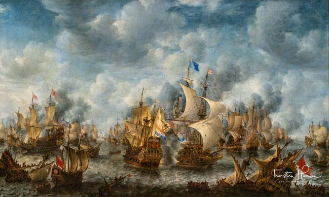 Jan Abrahamsz Beerstraten (1622-1666). Die Schlacht von Terheide, 1653-1666