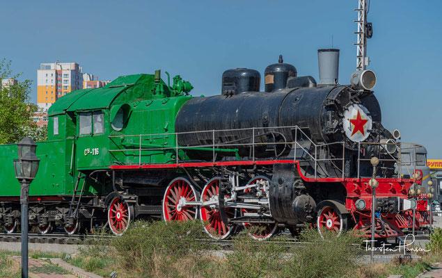 Dampflok Cy-116 in dam Eisenbahn Museum von Mongolei in Ulaanbaatar