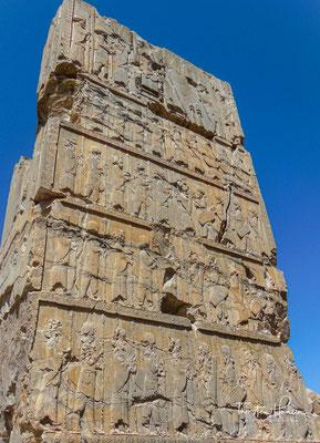 Relief am Portal eines Südtores des Hundert-Säulen-Palastes