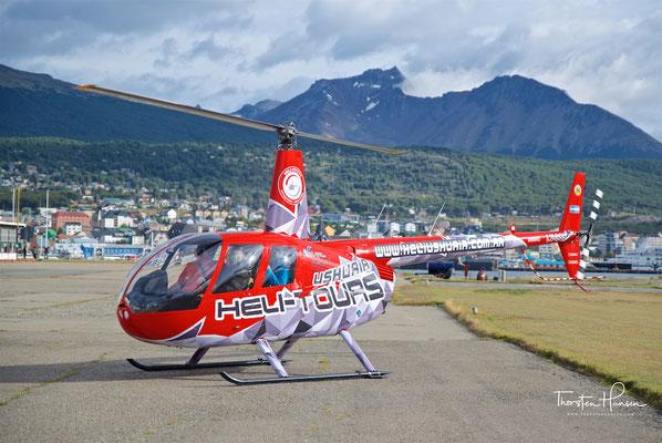 Mit dem Helikopter über den Beagle Kanal und die Anden