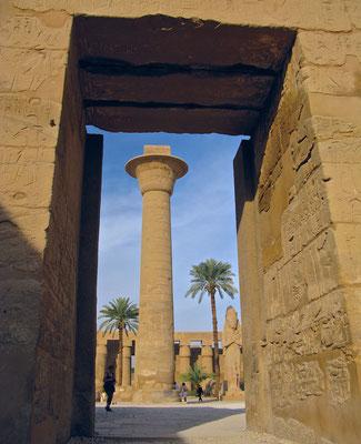 Taharqa Säule im Karnak Tempel