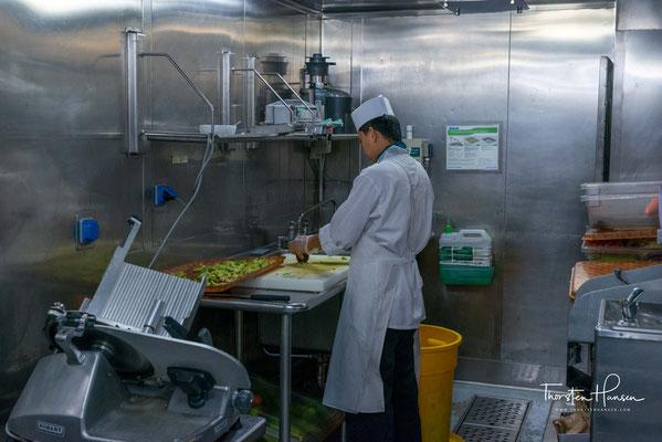 Die Küche der MS Westerdam