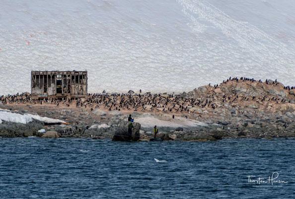 Am nördlichen Ende der Station steht ein Schild, das den historischen Waterboat Point (Position einer zerstörten Hütte der British Imperial Antarctic Expedition 1920–1922) markiert.