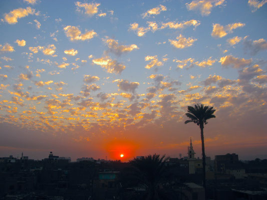 Sonnenuntergang über Luxor