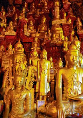 Die Pindaya-Höhlen (birmanisch ပင်းတယရွှေဥမင်, sprich: pɪ́ɴdəja̰ ʃwè ṵmɪ̀ɴ) sind eine buddhistische Pilgerstätte nahe bei der Stadt Pindaya im Shan-Staat in Myanmar.