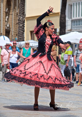 Flamenco Tänzerin in Cadiz