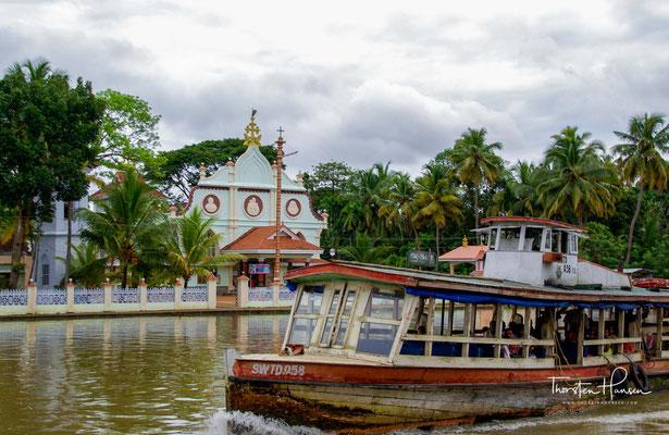 So schrumpfte allein der Vembanad-See von einst 230 km² auf mittlerweile nur noch 179 km².