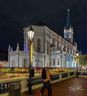 Chijmes war ursprünglich eine Niederlassung der Sisters of the Infant Jesus, einer Ordensgemeinschaft in der römisch-katholischen Kirche in Singapur. Mittlerweile ist der Komplex profaniert und ein beliebter Treffpunkt mit einer Vielzahl von Bars