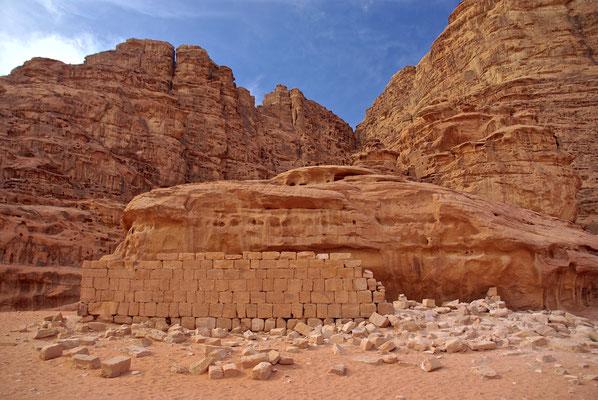T.E. Lawrence von Arabien´s Haus im Wadi Rum