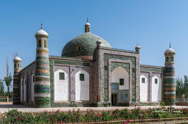"""Die Geschichte von der """"Duftenden Kaiserlichen Konkubine"""" kennt jeder hier in Kashgar. Ihr Kenotaph befindet sich in Kashgar."""