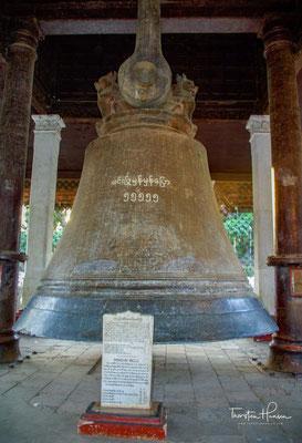 Die Mingun-Glocke im Dorf Mingun nördlich von Mandalay in Myanmar ist die zweitgrößte intakte Glocke der Welt. Sie ist 3,70 Meter hoch, hat an der Basis einen Durchmesser von 5 Metern und wiegt etwa 87 Tonnen.