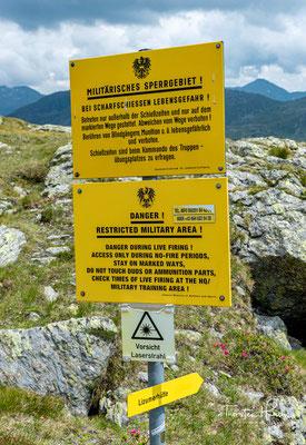 Der Truppenübungsplatz Lizum-Walchen ist mit über 50 km² der zweitgrößte Truppenübungsplatz Österreichs nach dem Truppenübungsplatz Allentsteig
