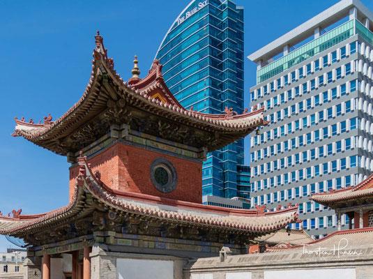 Die zwischen 1904 und 1908 errichtete Anlage war der einstige Sitz des Beschützers Tschoidschin (Choijin, eigentlich Lobsang Hoi Do)