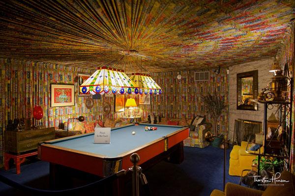 Spielzimmer in Graceland - Elvis Presley´s  Anwesen in Memphis, Tennessee