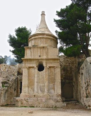 Das Grabmal des Abschalom im Kidrontal