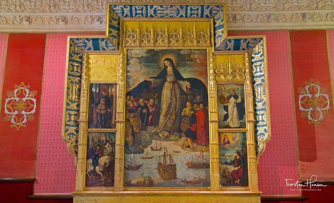 Die Jungfrau der Seefahrer mit der älteste bekannten gemalte Darstellung der Entdeckung Amerikas