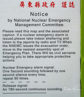 Verhaltensregeln im falle eine nuklear Unfalls