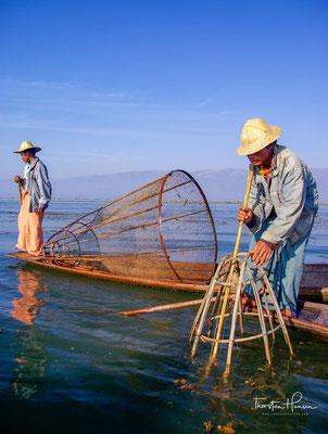 Das nutzen besonders die Fischer auf dem Inle-See.