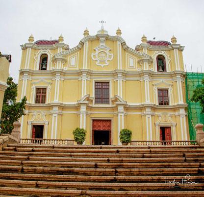 Die Josephskirche in Macau. Ein seltenes Beispiel des Barocks in Asien. Erbaut 1758