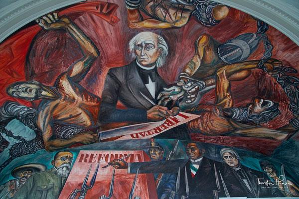 Wandmalerei von Orozco im Palacio De Gobierno