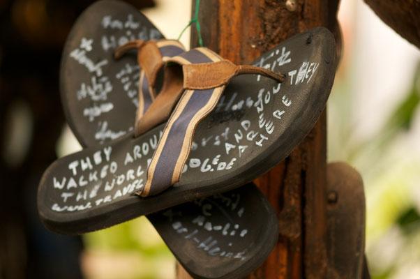 Meine alten Flip Flops