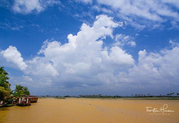 Die Backwaters sind heute auf Grund der hohen Bevölkerungsdichte ein stark vom Menschen geprägtes Ökosystem.