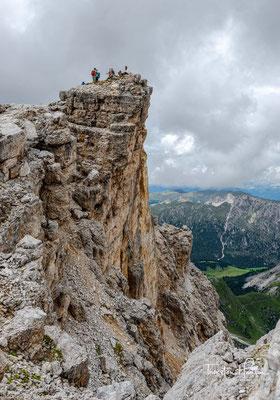 Gleich habe ich es geschafft. Der Gipfel des  Piz Duleda auf 2909 m ist erreicht