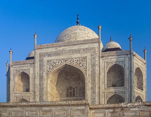 Außerdem wird der Taj Mahal als Gebetsstätte der muslimischen Bürger genutzt.