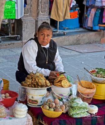Verkäuferin in San Miguel de Allende