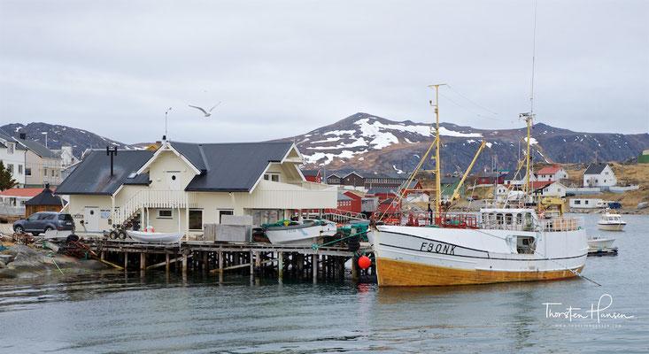 Dies ist eines der Dinge, die man nur einmal im Leben erfahren. Die zweistündige Bootsfahrt beginnt in Gjesvaer und Ausgehen zu Gjesværstappan Naturschutzgebiet befindet sich 15 km westlich von Nordkap-Plateau.