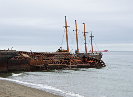 Die County of Peebles, ein Viermast-Vollschiff aus Swansea (Wales), war das erste eiserne Segelschiff der Welt mit vier Masten.