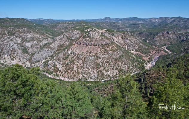 Die Sierra Madre Occidental in der Nähe der Kupferschlucht