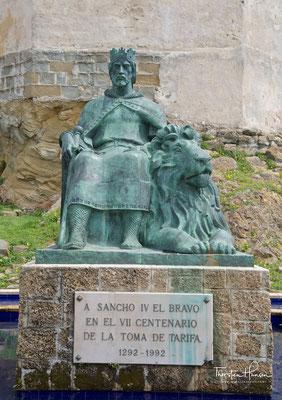 Denkmal von König Sancho IV, Calle Alcalde Juan Nunez, Tarifa - Spanien