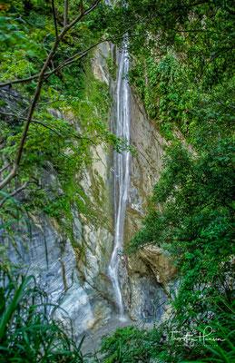 Der Shakadang Trail ist entlang der Flussklippe angelegt, so dass wir sowohl die elegant gemaserten Marmorbrocken im Flussbett, als auch das Pflanzenökosystem am Rande des Flusstals bewundern können.