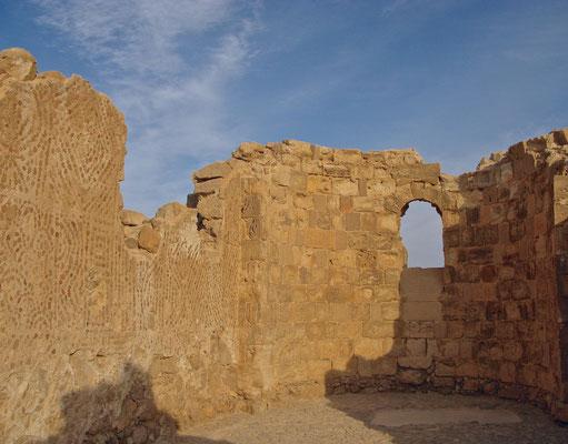 Masada Ruine der byzantinischen Kirche aus dem Mittelalter