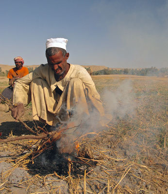 Teepause auf einer Nilinsel