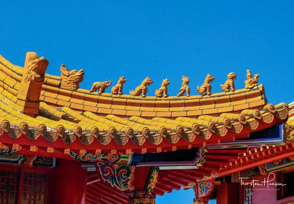 Die Bronzestatue eines sitzenden Konfuzius macht diesen Tempel auch zum einzigen Konfuzius-Tempel in Taiwan, der ein Bild des Weisen enthält.